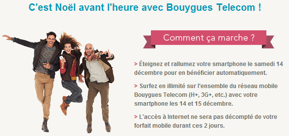 Bouygues Surf gratuit week-end