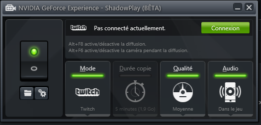 GeForce Experience 1.8.1 Twitch