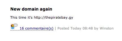 The Pirate Bay Guyane