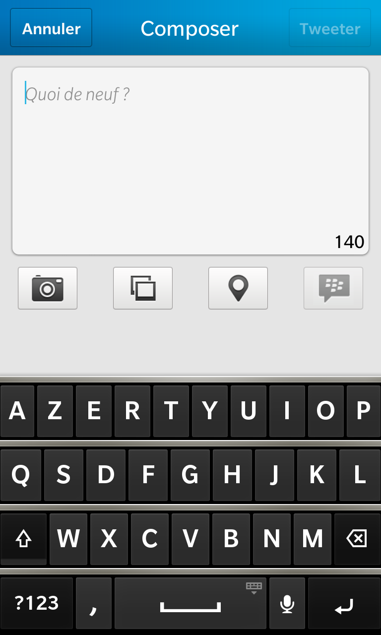 Twitter 10.2.2 BlackBerry10