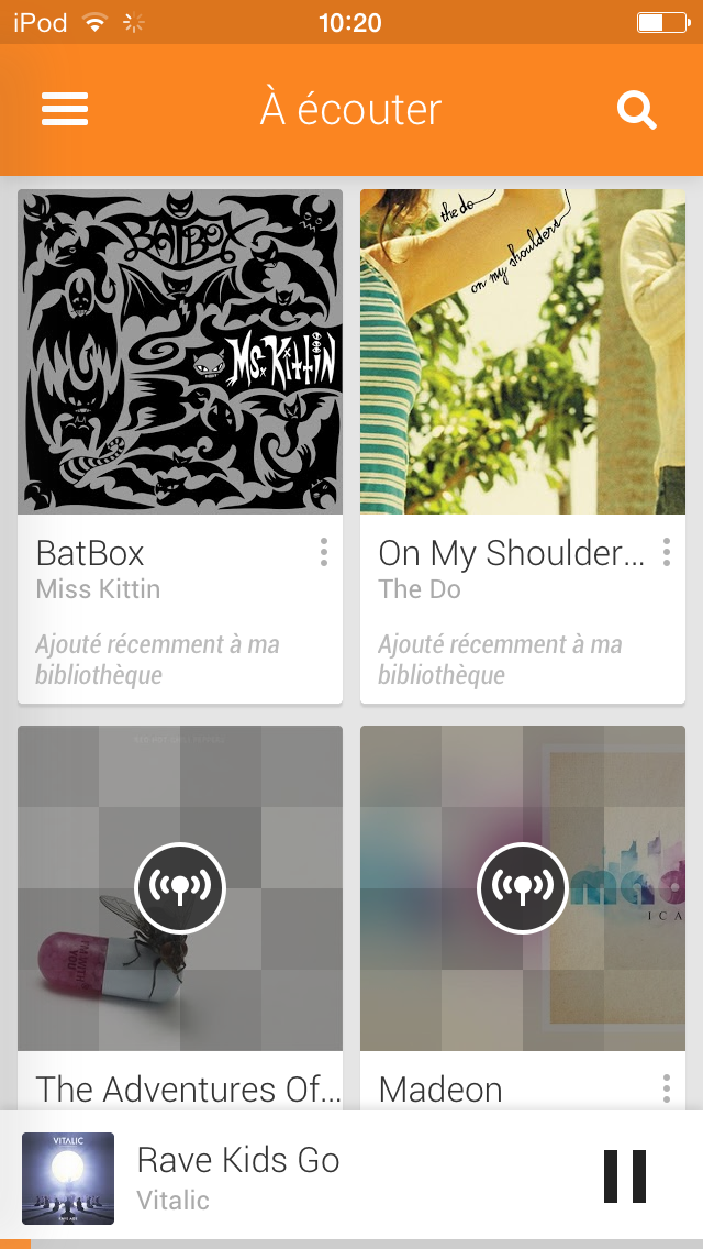 Google Play Musique iOS 7