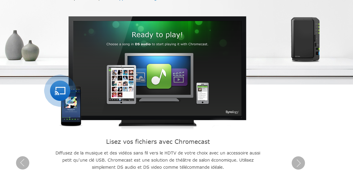 Synology : DS Video se met à jour sur iOS et prend en charge Chromecast