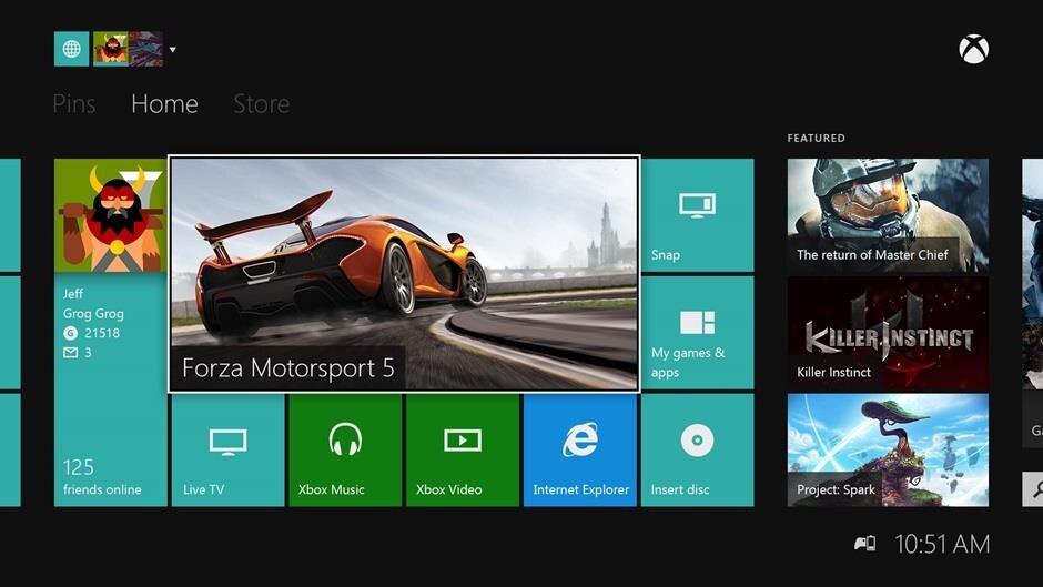 Xbox One Menus