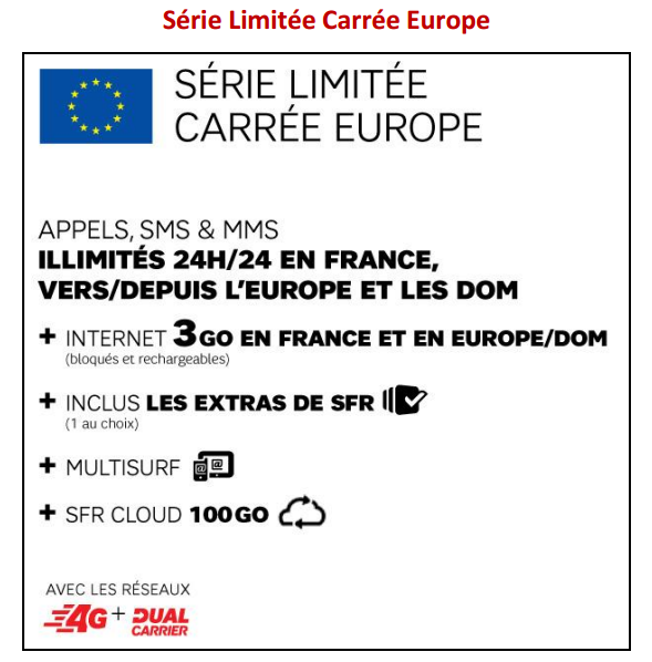 SFR formule carrée europe