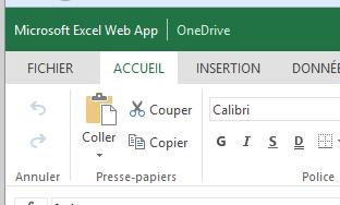 onedrive office web app