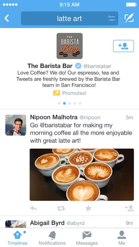 Twitter moteur de recherche sponsorisé publicité