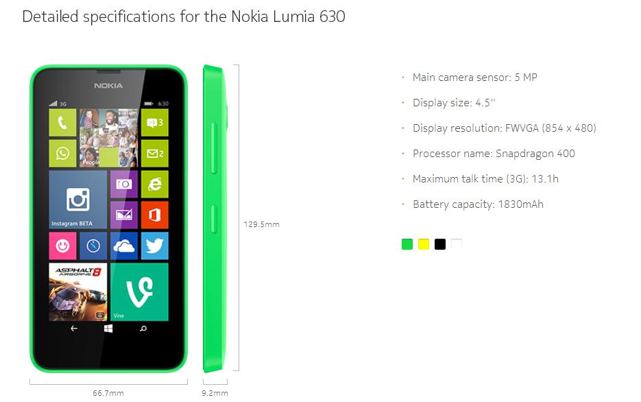 Nokia : nouveaux smartphones et mise à jour vers WP 8.1 pour tous les Lumia