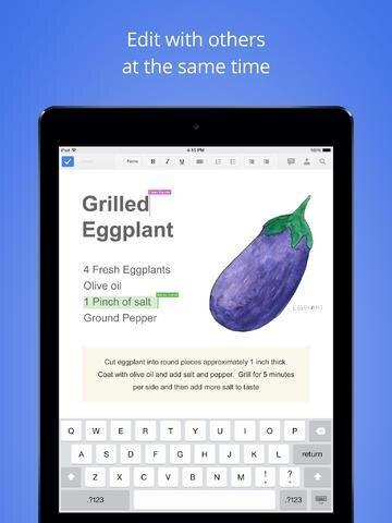 Google Docs Sheets iPad