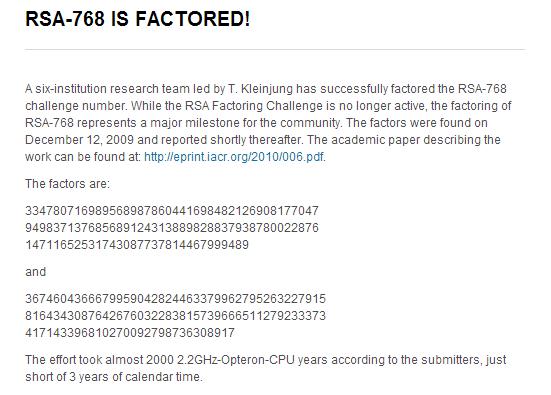 RSA 768
