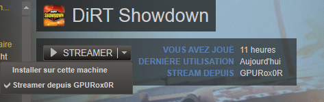 Streaming local Valve Steam