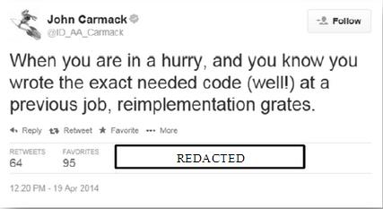 John Carmack tweet Zenimax