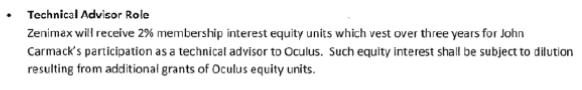 Oculus equity ZeniMax