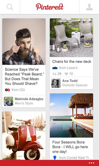Pinterest Windows Phone 8