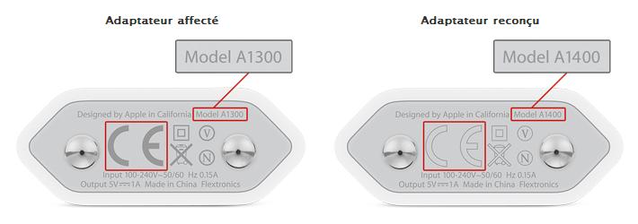 apple rappelle une partie des chargeurs d 39 iphone 3gs 4 et 4s en europe. Black Bedroom Furniture Sets. Home Design Ideas