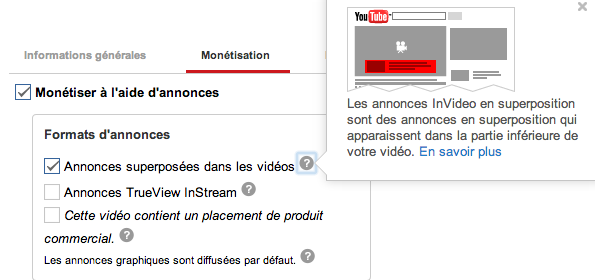 YouTube publicités