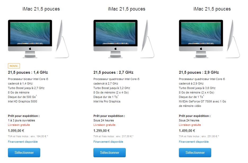 apple lance un nouvel imac 1099 euros quip d 39 un core i5 1 4 ghz. Black Bedroom Furniture Sets. Home Design Ideas