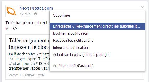 Facebook Save