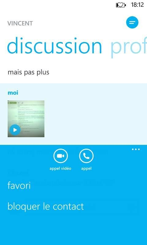Skype 2.21 Windows Phone