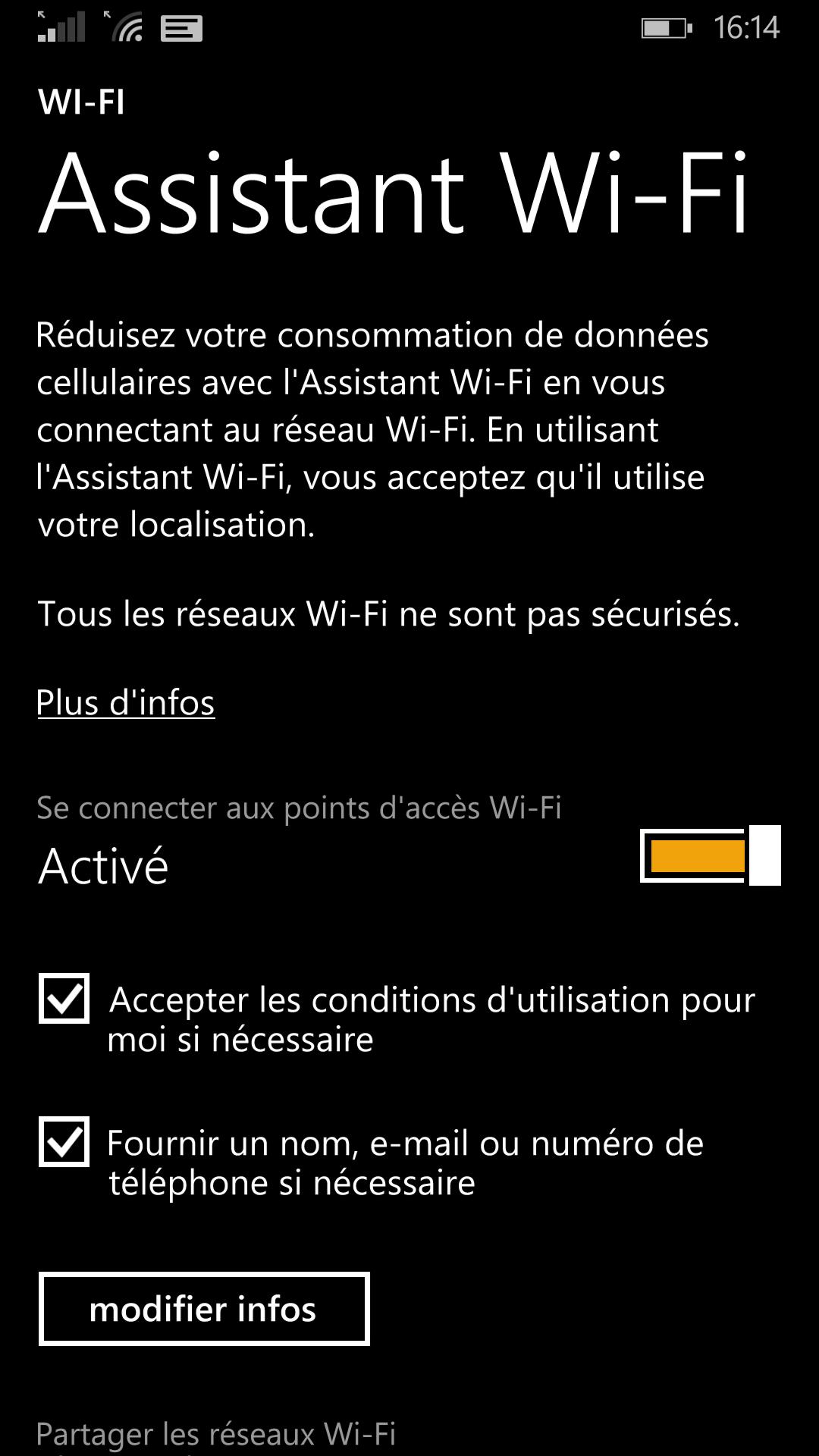 windows phone 8.1 wifi