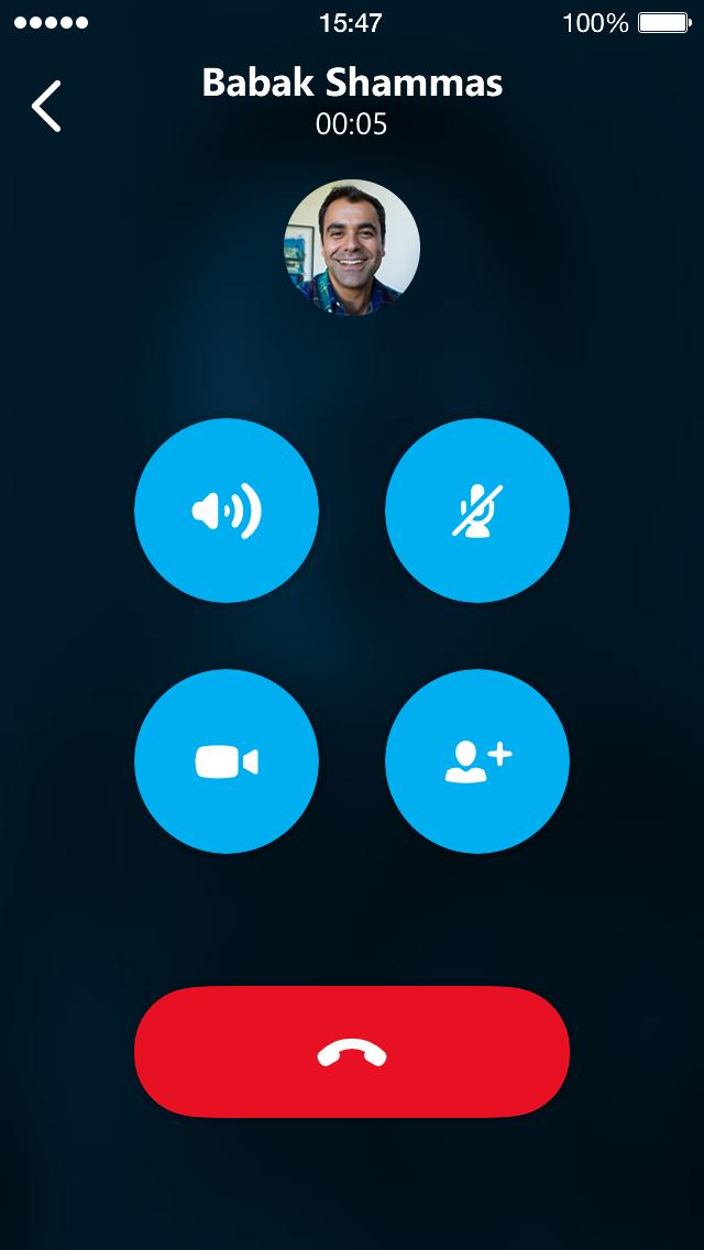 Skype 5.4 iOS Group Call