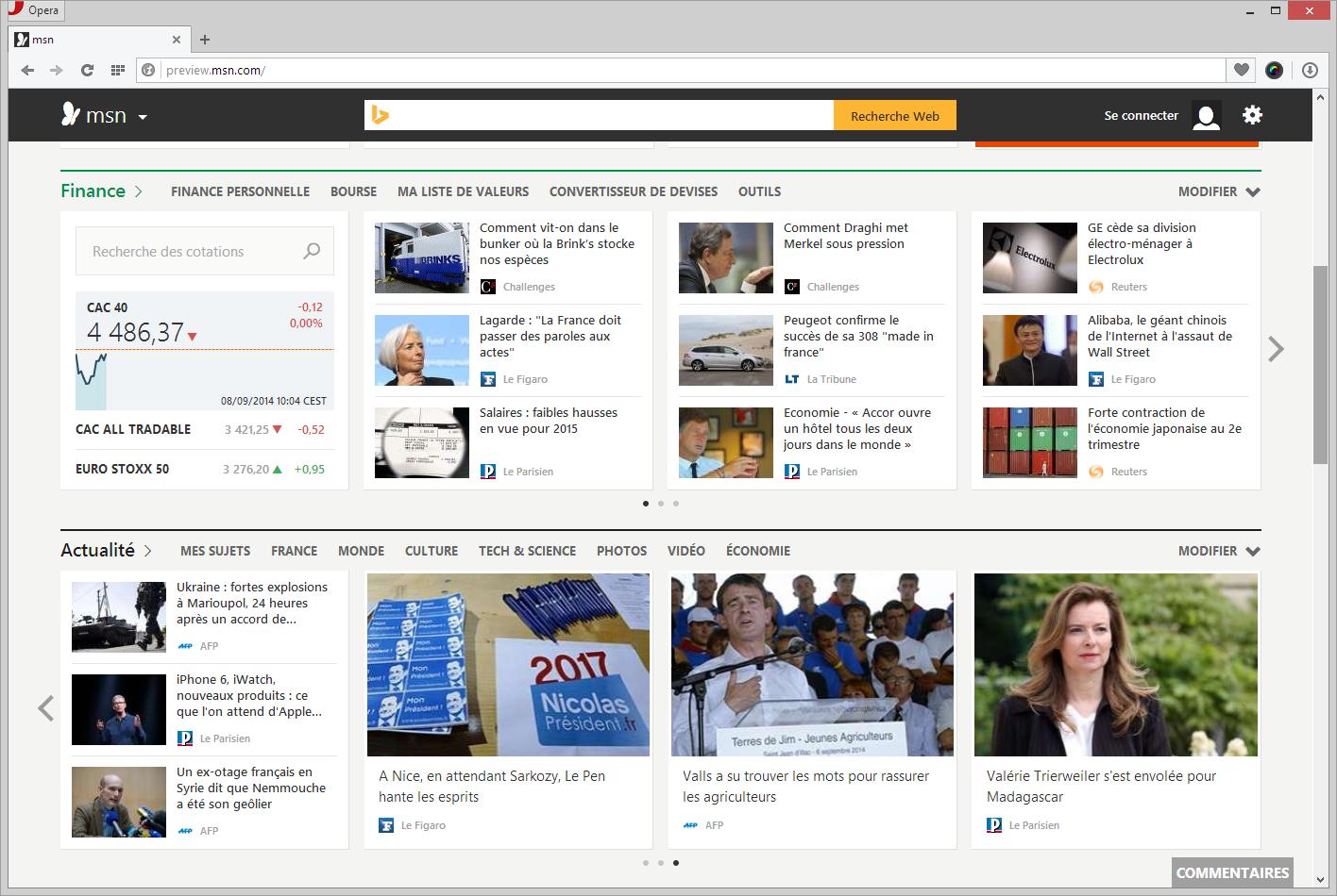Microsoft présente sa refonte de MSN, des applications