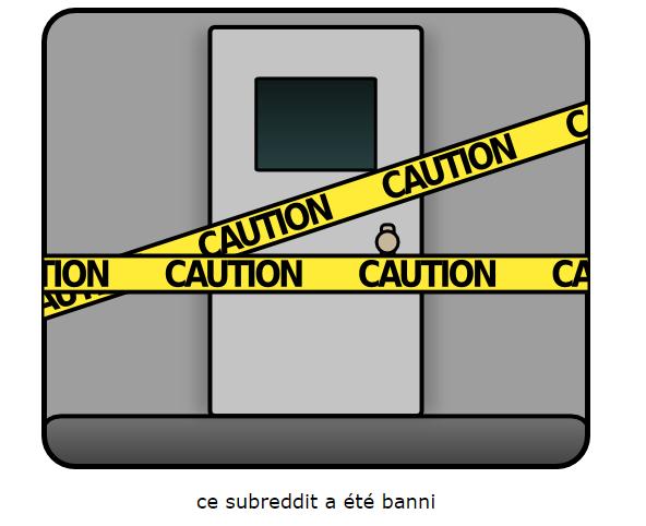 Reddit Subreddit banni