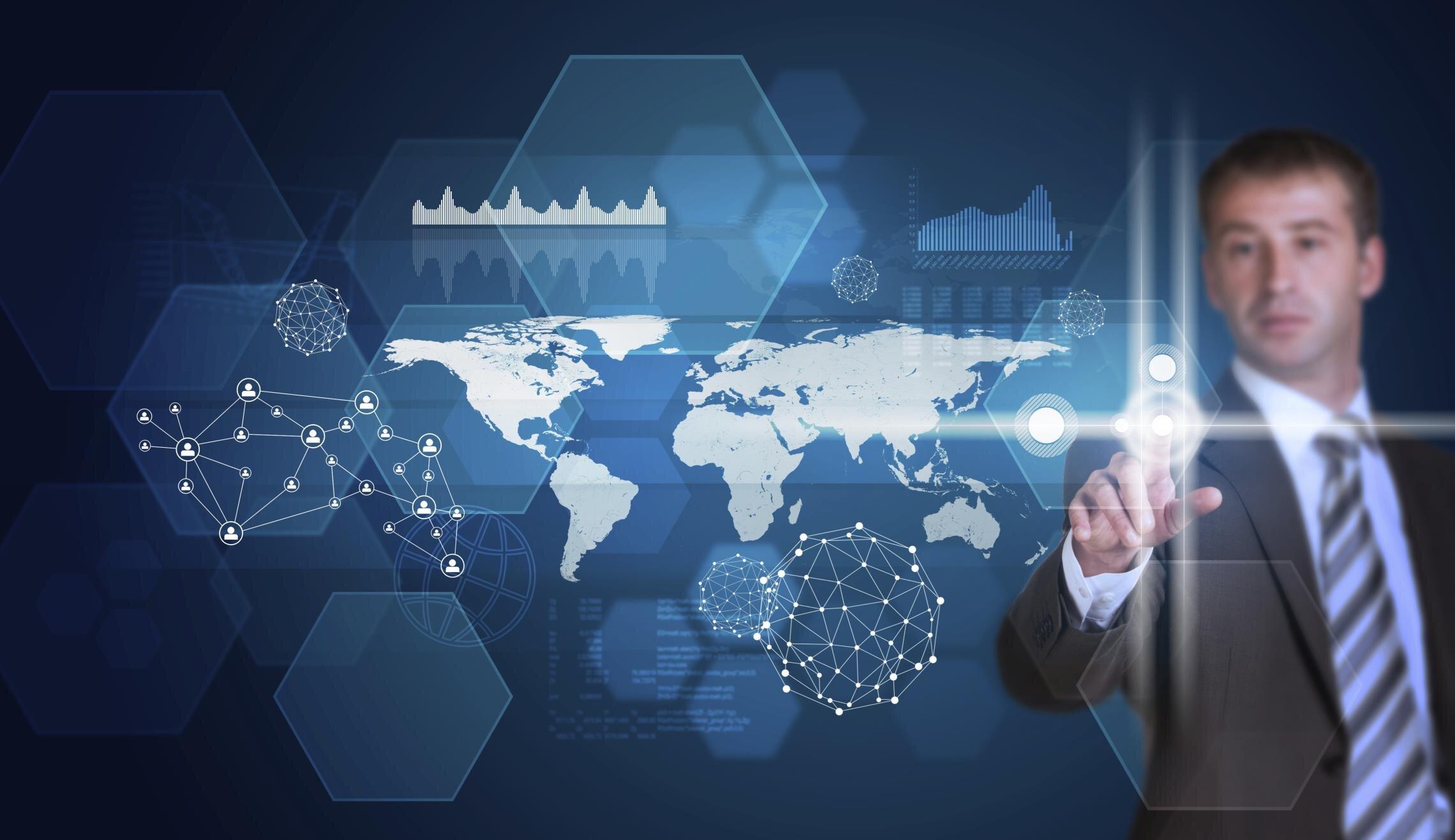 Guerre cyber bouton monde
