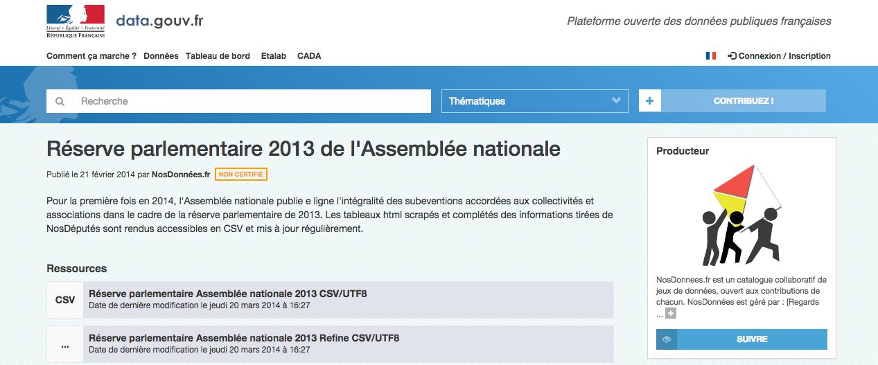 réserve data.gouv.fr