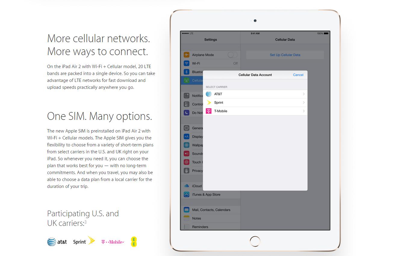 Apple SIM iPad Air 2