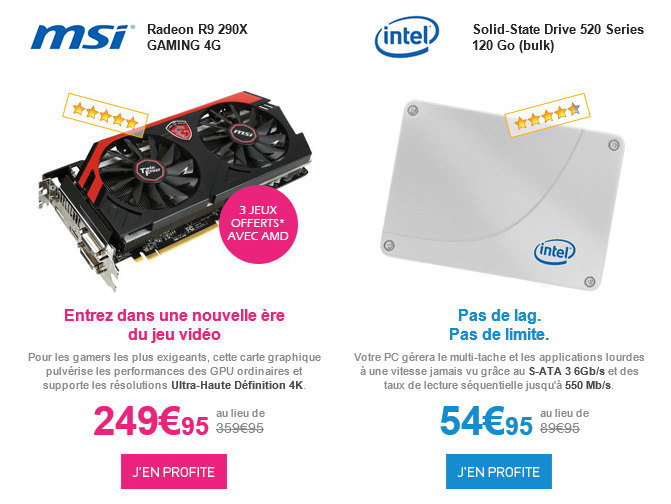 Radeon R9 290X MSI Prix cassé LDLC