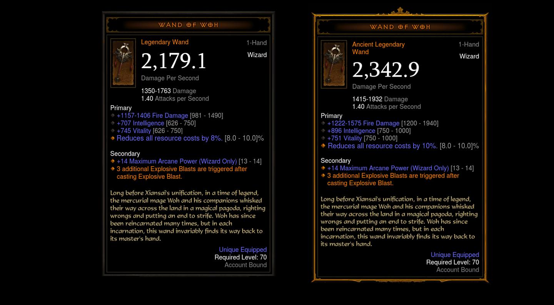 Diablo III objets anciens