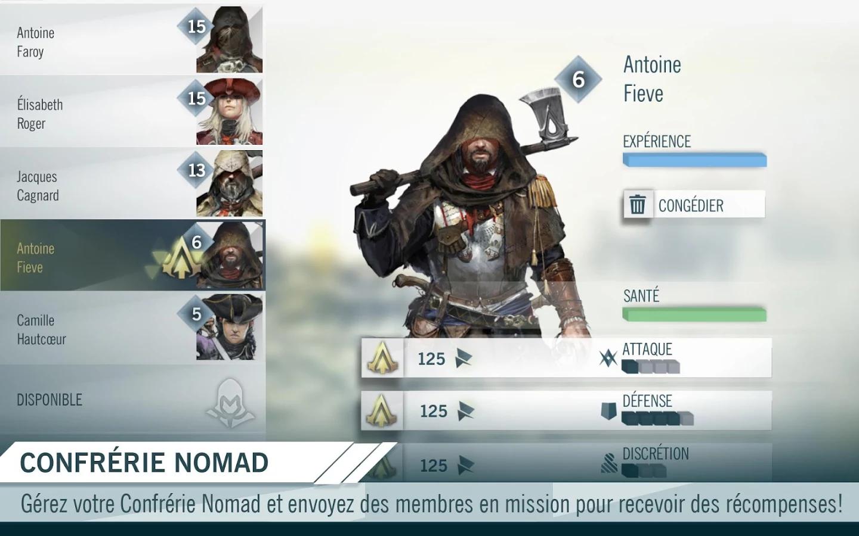 Application Compagnon Assassin's Creed Unity