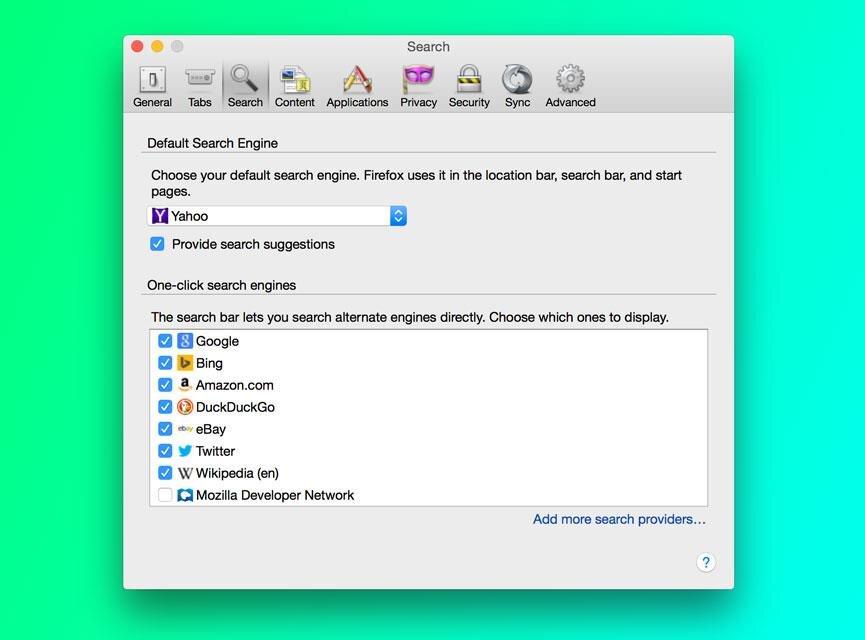Firefox module de recherche