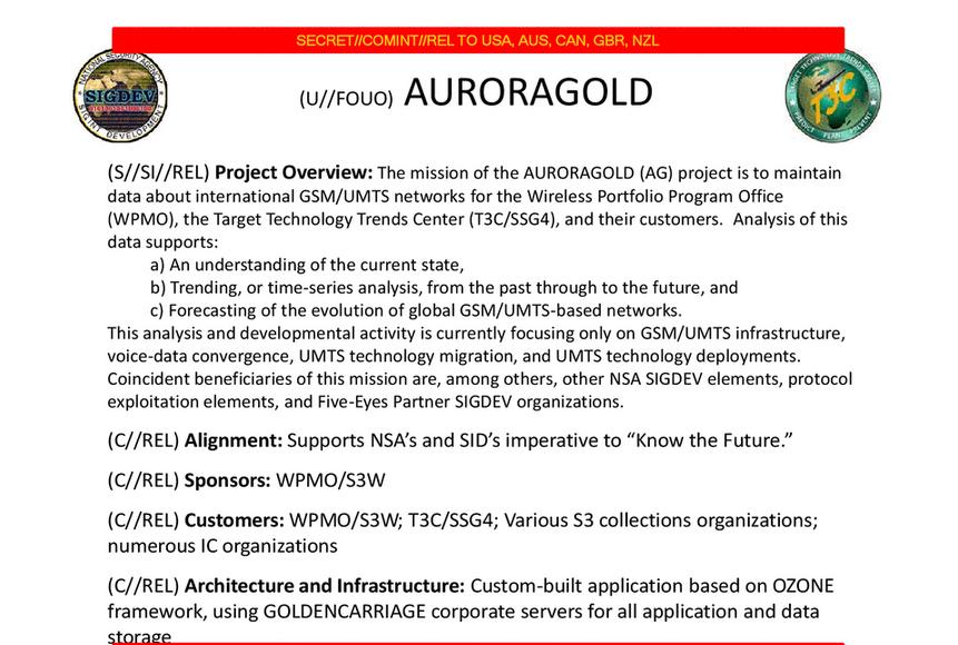 nsa réseaux mobiles auroragold