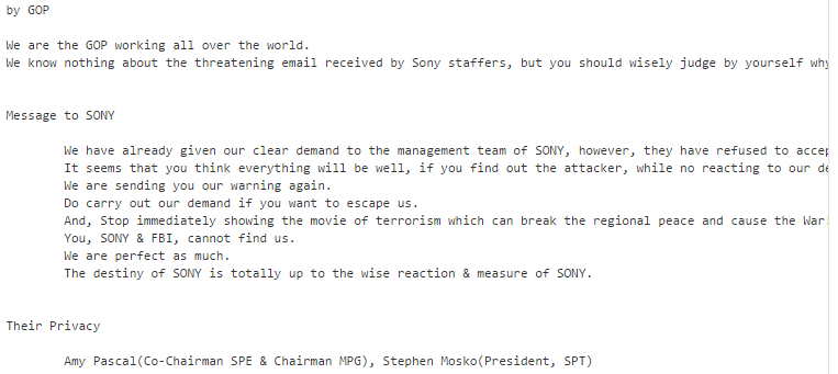 sony spe gop hack pirates