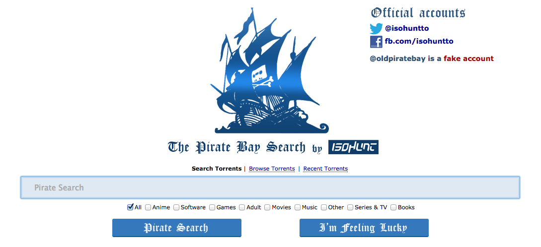 isohunt pirate bay