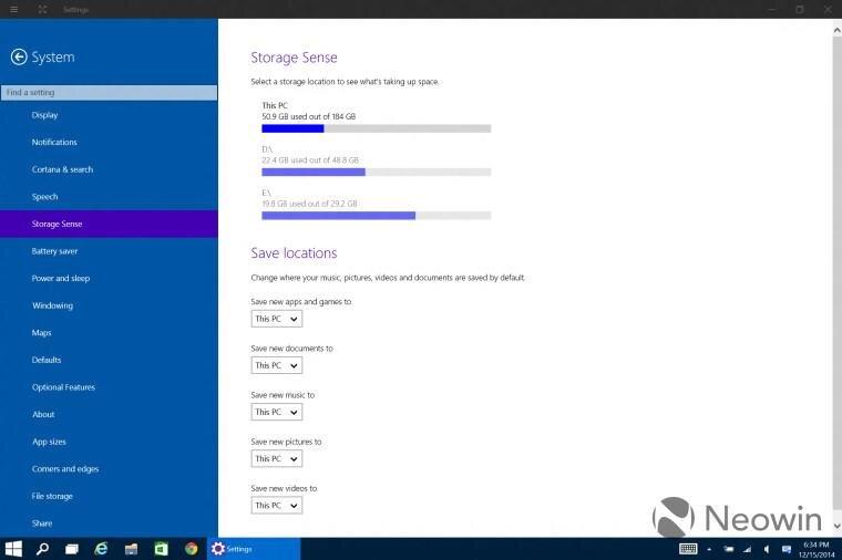 windows 10 9901 storage sense