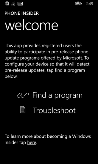windows phone insider 10