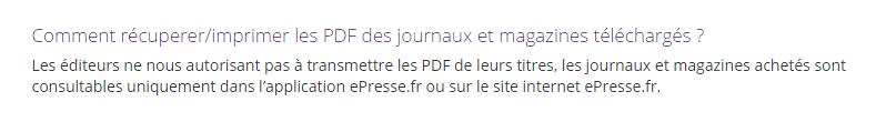 ePresse PDF