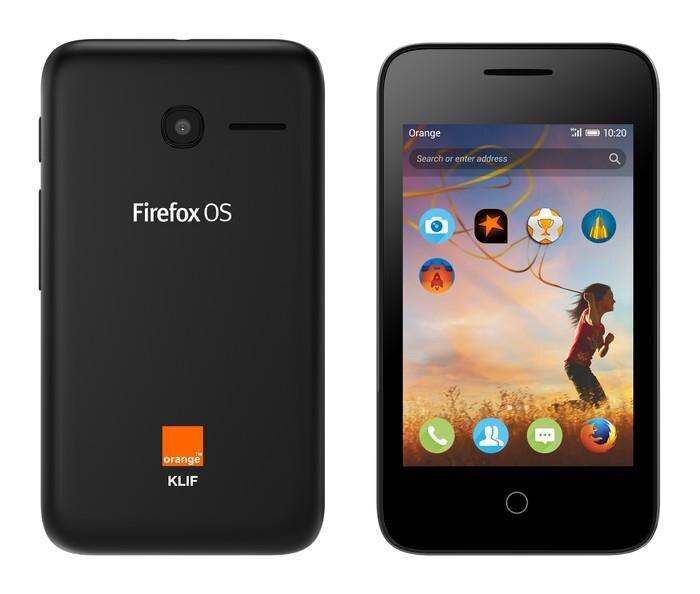 Firefox OS Orange Alcatel Onetouch Klif
