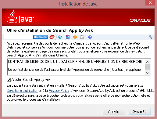 oracle java ask