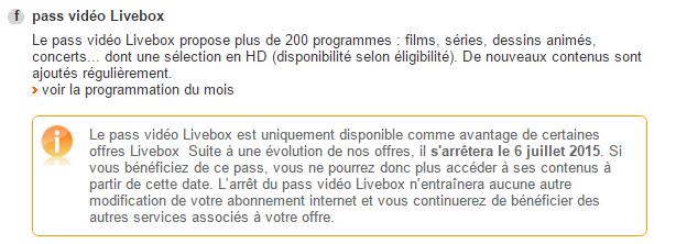 Pass video Livebox