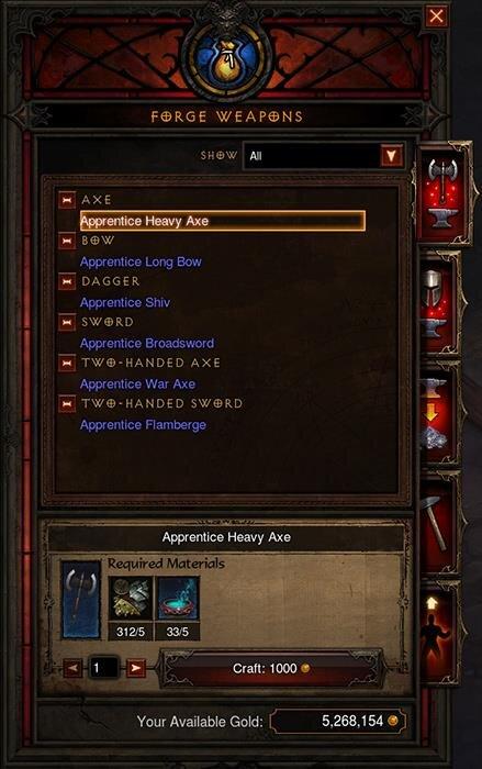 Diablo III Artisanat 2.3