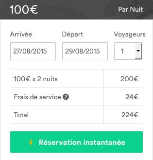airbnb prix