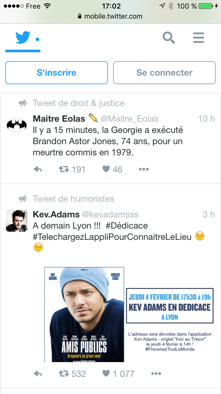 Twitter Acceuil Mobile Next Gen