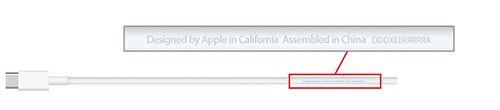 apple macbook usb-c rappel logo