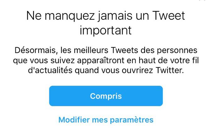Twitter Meilleurs Tweets Notification