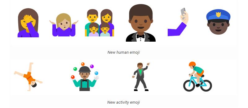 Android N Emojis Unicode 9.0