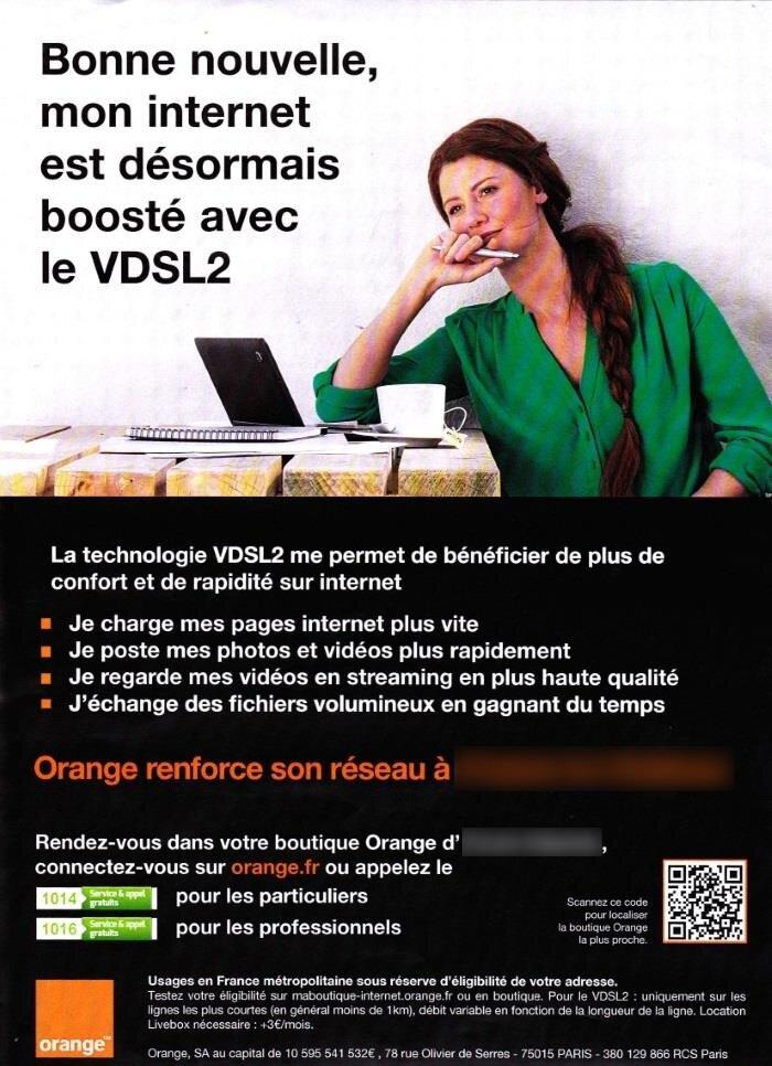 Tract Orange montée en débit