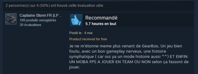 Steam Review Sponso